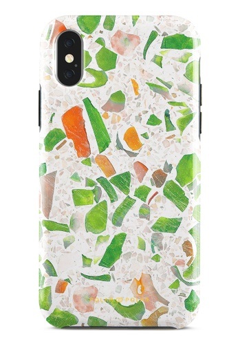 Polar Polar green Terrazzo Green Dual-Layer Tough Case Glossy For iPhone X / XS 088CEAC8FC1F13GS_1