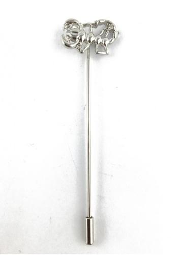 Splice Cufflinks silver Silver Scorpion Lapel Pin SP744AC19FAASG_1