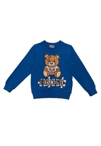 MOSCHINO BABY KID TEEN blue MOSCHINO KIDS SWEATSHIRT 6C22CKA8CEAD91GS_1