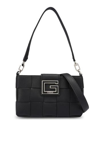 GUESS black Liberty City Shoulder Bag 9DF32AC035EB64GS_1