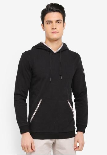 JAXON black Hoodie With Trim Detail F5794AA380AE9AGS_1