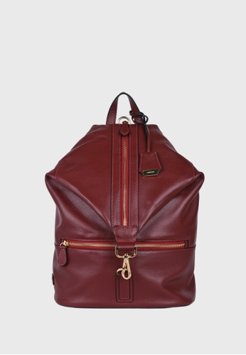 Tocco Toscano red Ambriel Diamond Top Backpack (Maroon) TO281AC0F2YNSG_1