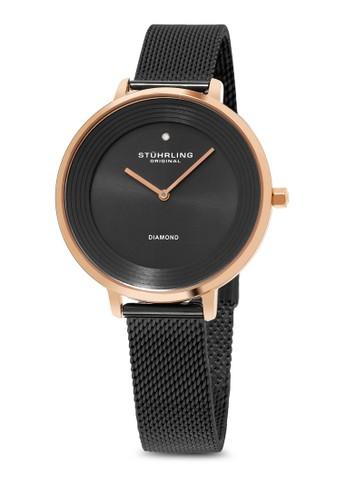 Symphony 589 網esprit taiwan眼圓框手錶, 錶類, 不銹鋼錶帶