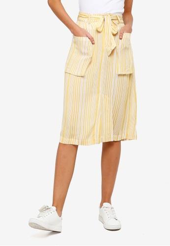 ZALORA yellow Cargo Pocket Skirt 9A342AA07CFD98GS_1