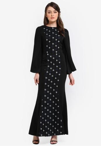 Zalia black Lace Pieced Mermaid Dress 12FCFAAFA505FBGS_1