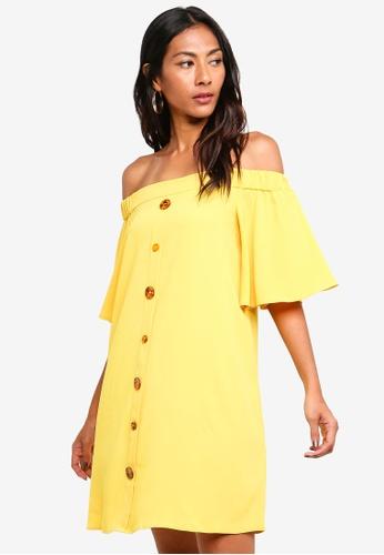 River Island yellow Front Button Swing Dress C8588AA49E62D1GS_1