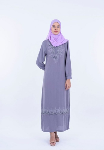 Ladies Jeans grey Jubah With Crystal Embroidery 1EBD5AA585D930GS_1