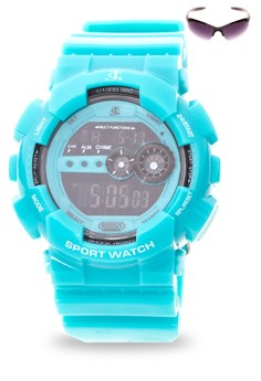 Digital Watch With Free Sunglasses JC-H1113G-SC-03