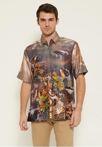 Batik Wibowo grey Melfort Batik Shirt 4A7ACAA551763CGS_1