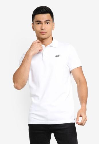 Hollister white Core Polo Shirt 6D61CAA7F385ABGS_1