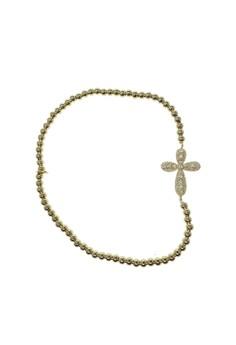 Beaded Fiery Cross Bracelet
