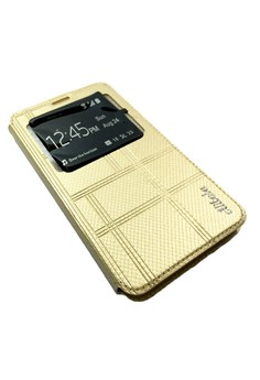 Alibaba Leather Case with Front Preview for Samsung Galaxy J7