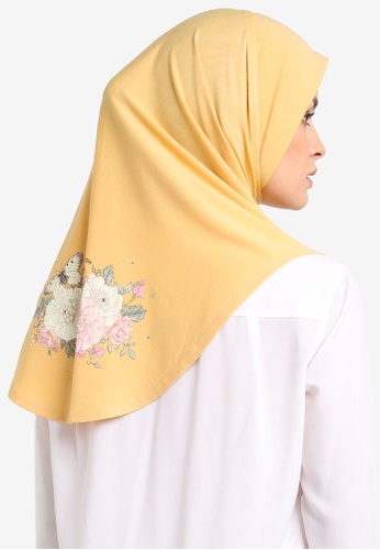 Cloverush yellow Vera Instant Scarf CL245AA0RNS7MY_1
