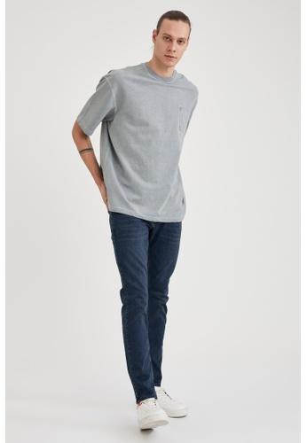 DeFacto blue Man Denim Wall Trouser 81807AA16BD343GS_1