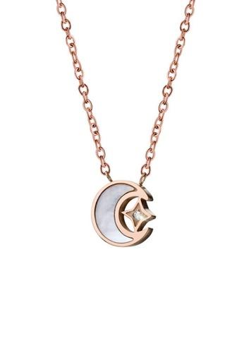CELOVIS gold CELOVIS Premium - Stellaluna Moon and Star 0.05ct Diamond Pendant Necklace BE421AC3374531GS_1