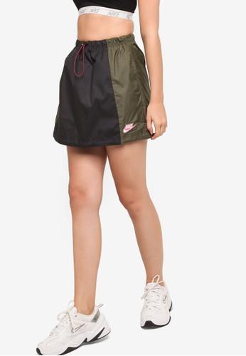 Nike black and grey Women's Nike Sportswear Icon Clash Woven Skirt A6ADBAA3749937GS_1