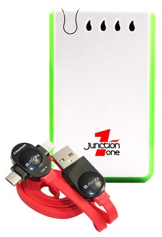 ​Junction 1 13000mAh Powerbank With FREE Bavin 2-IN-1 Intelligent Lightning Data Cable