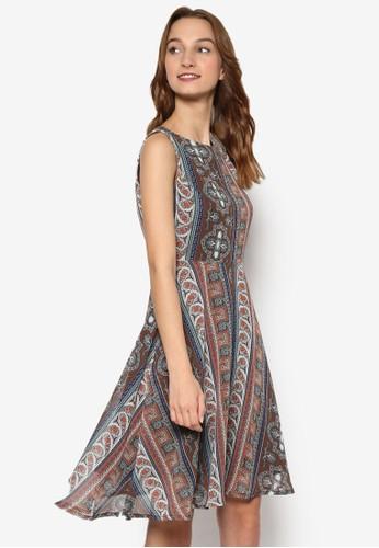 Mischka 印花無袖洋裝,esprit 折扣 服飾, 洋裝