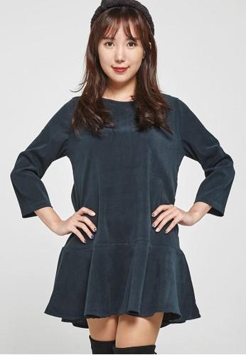 韓系時尚 打褶迷你連衣裙 zalora 包包評價F4058, 服飾, 洋裝