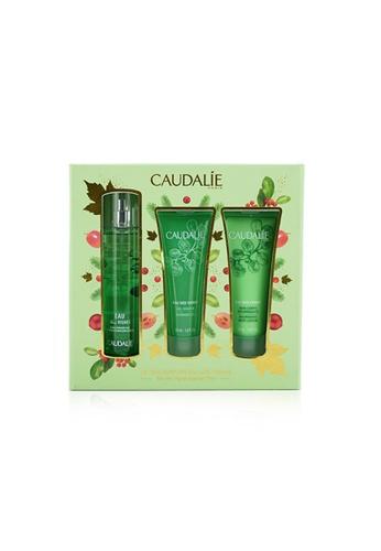Caudalie CAUDALIE - Eau Des Vignes Christmas Coffret: Fresh Fragrance Spray 50ml + Shower Gel 50ml + Body Lotion 50ml (Green Line) 3pcs 15BBBBE7BC3B8CGS_1