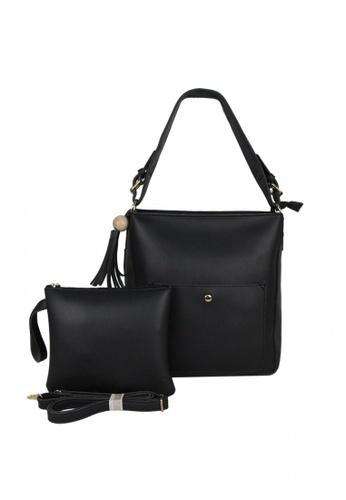 DNJ black Rica Vogue Tote Bag DN487AC0JOFNPH_1