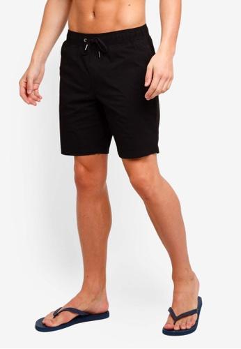 Billabong 黑色 素色抽繩衝浪褲 D30FBAACDE556BGS_1