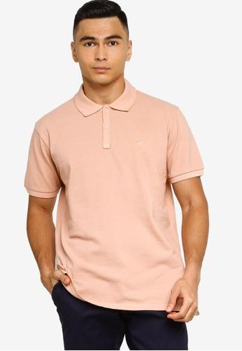 Sacoor Brothers pink Short sleeve cotton polo piquet garment dye 8D1A9AA0A9B731GS_1