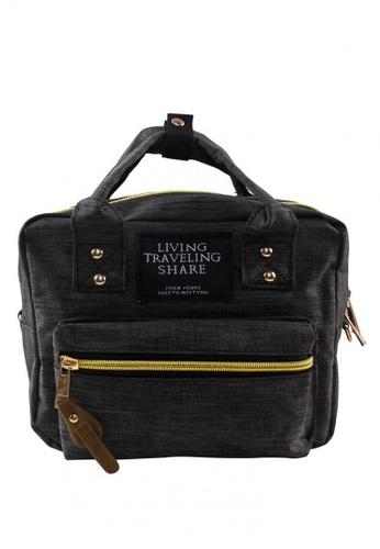 Travel Manila brown Denim Handbag TR905AC76YZBPH_1