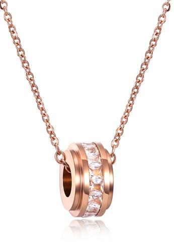 Trendyshop gold Lady's Pendant Necklace 77F45AC39C4878GS_1