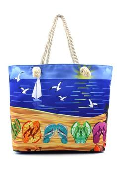 Summer Flip Flaps Beach Tote Bag