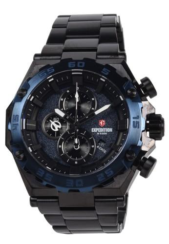 Expedition blue Expedition - Jam Tangan Pria - Black Blue - Stainless Steel Bracelet - 6797MCUBBU 490B7AC1C3F0D8GS_1