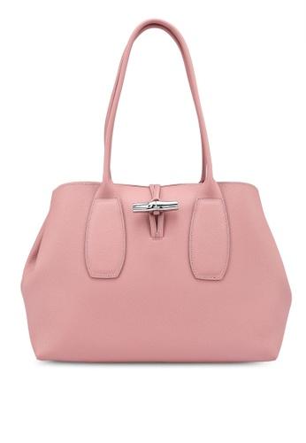 LONGCHAMP pink Roseau Shoulder Bag (zt) FD9FCAC9F6943BGS_1