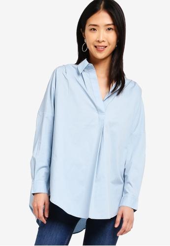 99b6d34b30c Buy French Connection Rhodes Poplin Popover Shirt   ZALORA HK