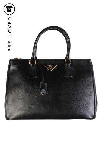 Prada black Pre-Loved prada Galleria Saffiano leather bag 8794CAC03D38D3GS_1