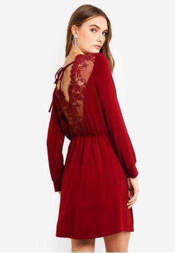 Vero Moda red Anna LS Dress Lace 2201FAAA29DED3GS_1