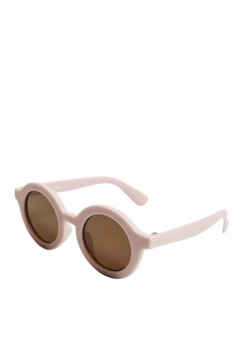 MANGO KIDS pink Classic Rounded Sunglasses C4673KCA8567F0GS_1