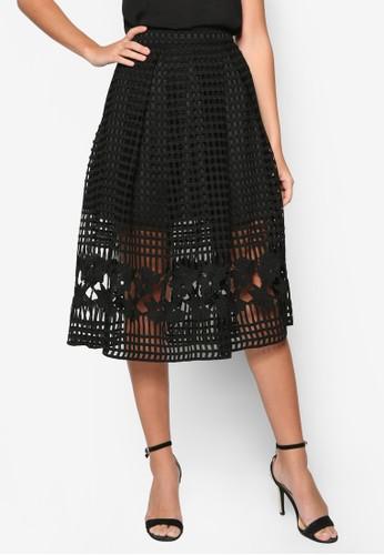 Preesprit暢貨中心mium Box Pleated Midi Skirt, 服飾, 裙子