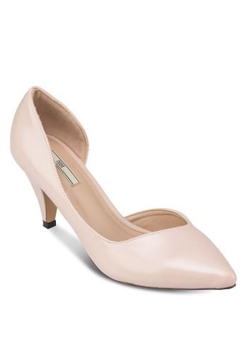 側鏤空尖頭高跟鞋, zalora時尚購物網的koumi koumi女鞋, 鞋