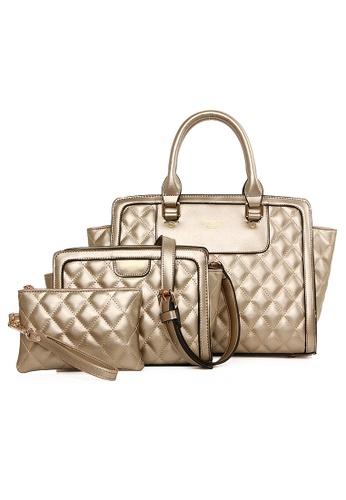 Vince gold European Designed Luxury Top Handle Tote Bag Set Of 3 VI456AC19FIYMY_1