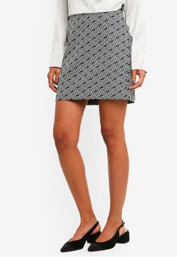 99469cff84 Dorothy Perkins green Green Geo Jacquard Mini Skirt 17F5EAA30C30DAGS_1