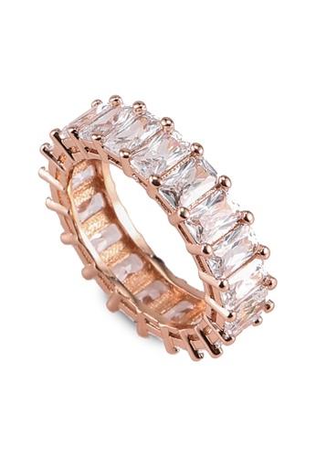 Megane gold Lindsey Baguette Cut Ring 4BA4BAC8548922GS_1