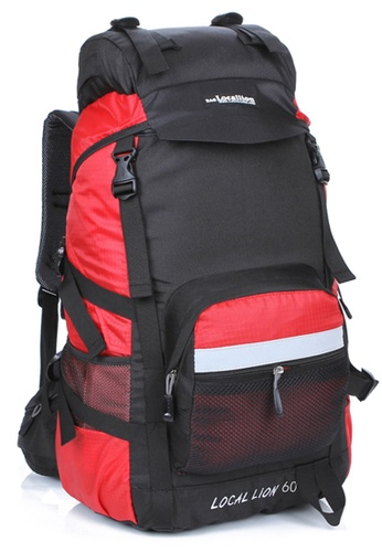 Local Lion red Local Lion Steel Support Water Resistant Hiking Backpack L STEEL 60L (Red) LO780SE97VNYMY_1