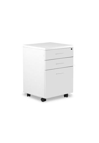 AMERCIS Amercis 3-Drawer White Mobile Pedestal 762A0HLF373514GS_1
