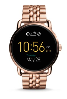 Fossil  Fossil Q Wander Touchscreen Rose Gold Stainless Steel Smartwatch FTW2112