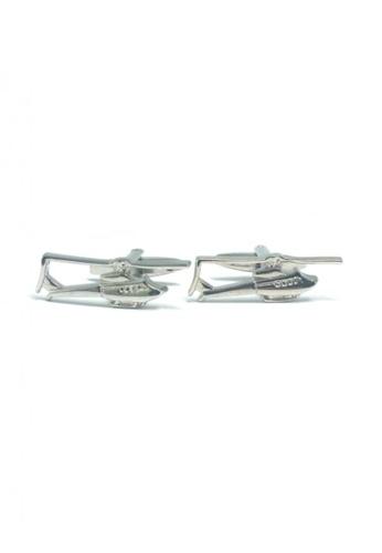 Splice Cufflinks silver Silver Helicopters Cufflinks  SP744AC70EMFSG_1