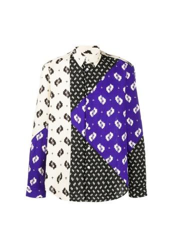 "Kenzo multi Kenzo ""Ikat"" Shirt in Black 5C681AA6679608GS_1"