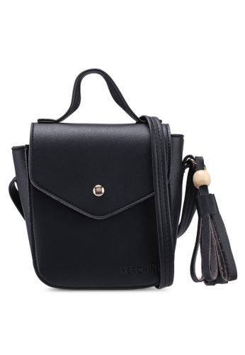 Verchini black The Square Sling Bag 80E46AC519F913GS_1