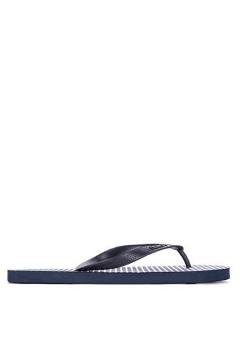 BENCH navy Printed Rubber Slippers 334A9SH7837BE0GS_1