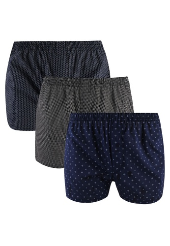 Fidelio multi Microprinted 3 Packs Woven Boxers 5B51AUS10D02CAGS_1
