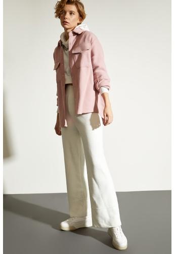 DeFacto pink Woman Woven Long Sleeve Shirt C3808AA250F74BGS_1